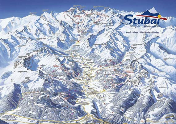 Skigebied Stubaital 11er lift Neustift